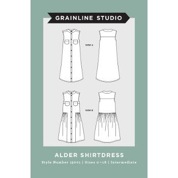 Grainline Studio Alder Shirt Dress Pattern // Holm Sown