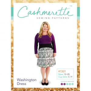 1301_Cashmerette_WashingtonDress_Pattern_Front Cover // Holm Sown