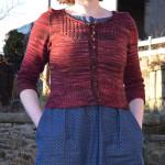 Audrey in Unst // Malabrigo Jupiter // Front // Holm Sown
