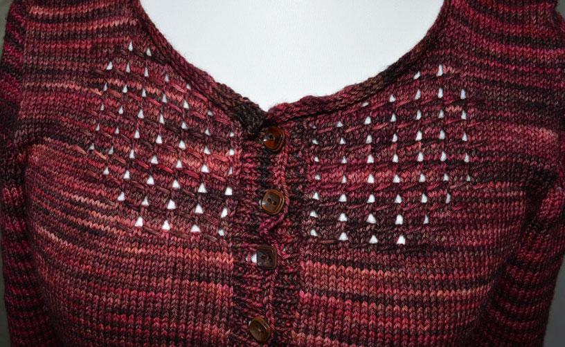 Audrey in Unst // Malabrigo Jupiter // Lace Detail // Holm Sown