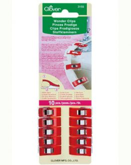 Holm Sown Online Fabric Shop - Clover Wonder Clips Red - pack of 10 | Quilt Binding Clips | Bag Making Clips CL3155