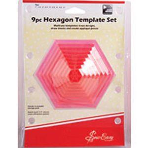ERGG07_Sew_Easy_9pc_Hexagon_Template_Set