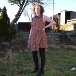 Grainline Alder Shirt Dress // version B // Front view // Liberty Eleonora C // Holm Sown