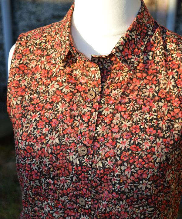 Grainline Alder Shirt Dress // version B // detail // Liberty Eleonora C // Holm Sown