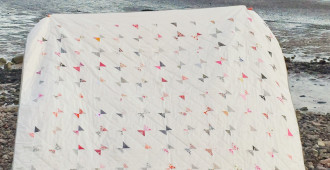 Katie's Bow Tie Quilt // Front // Holm Sown
