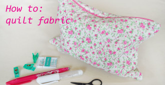How to quilt fabric // Quilted Zipped Bag // Holm Sown