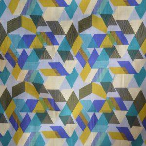 Dakota Geometric Luxury Cotton Lawn - detail