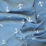 Anchors Viscose // blue & white // drape // Holm Sown