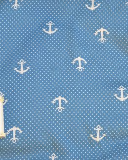 Anchors Viscose // blue & white // scale // Holm Sown