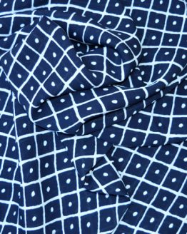 Diamonds Georgette Crepe // Midnight Blue and White // drape // Holm Sown