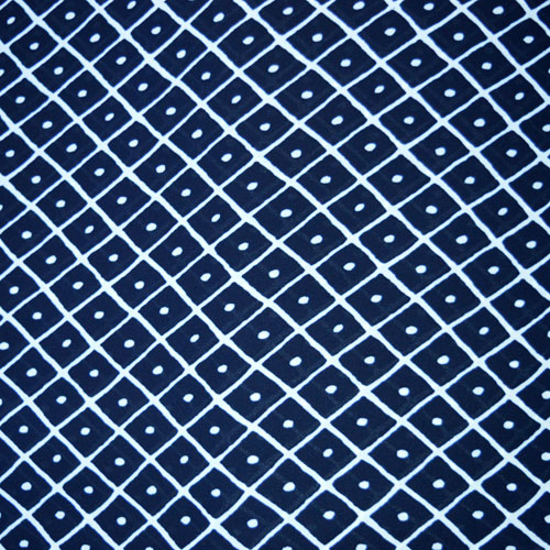 Diamonds Georgette Crepe // Midnight Blue and White // thumb // Holm Sown