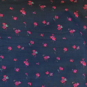 Gypsy Rose Viscose // Black and pink floral // thumb // Holm Sown