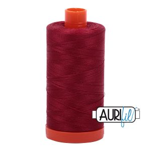 AURIfil Mako 50wt thread // cotton thread // #1103 burgundy // Holm Sown