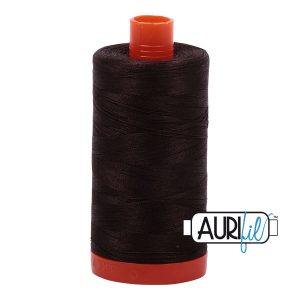 AURIfil Mako 50wt thread // cotton thread // #1130 very dark bark brown // Holm Sown