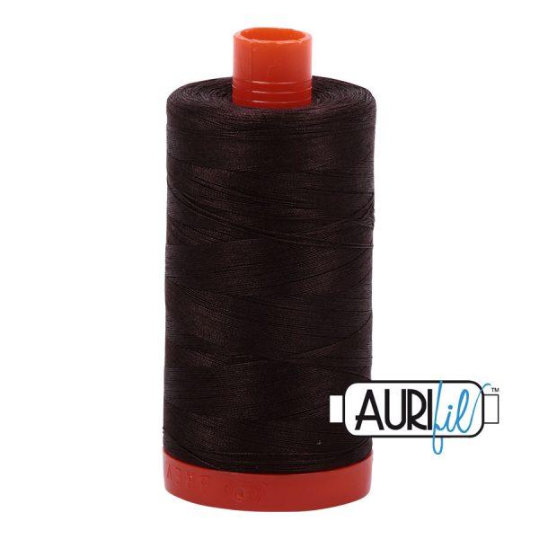 AURIfil Mako 50wt thread // cotton thread // #1130 very dark bark brown // Holm Sown
