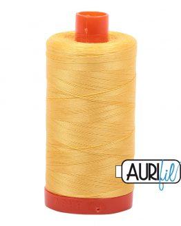 AURIfil Mako 50wt thread // cotton thread // #1135 pale yellow // Holm Sown