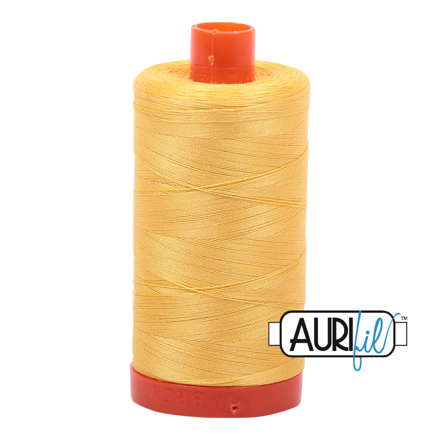 AURIfil Mako 50wt thread // cotton thread // #1135 pale yellow // Holm Sown
