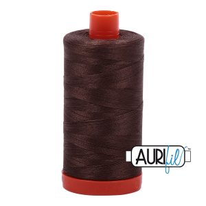 AURIfil Mako 50wt thread // cotton thread // #1140 bark brown // Holm Sown