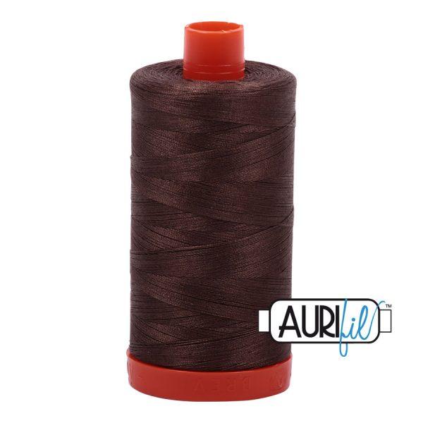AURIfil Mako 50wt thread // cotton thread // #1140 bark brown // Holm Sown