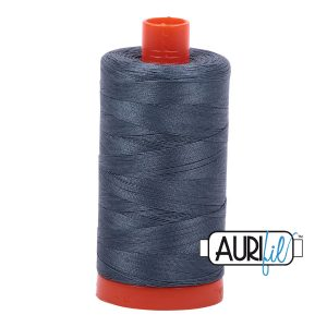AURIfil Mako 50wt thread // cotton thread // #1158 medium grey // Holm Sown