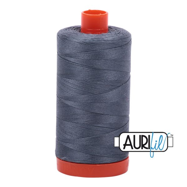 AURIfil Mako 50wt thread // cotton thread // #1246 grey // Holm Sown