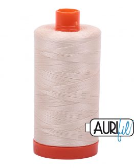 AURIfil Mako 50wt thread // cotton thread // #2000 light sand // Holm Sown