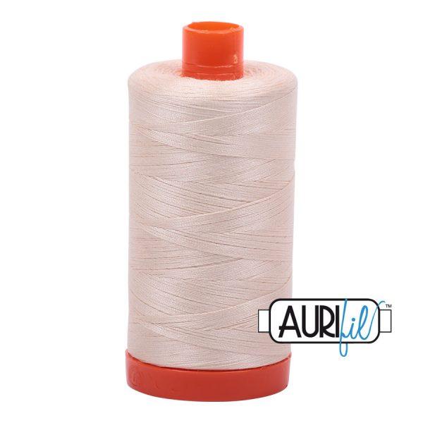 AURIfil Mako 50wt thread // cotton thread // #2000 light sand // Holm Sown
