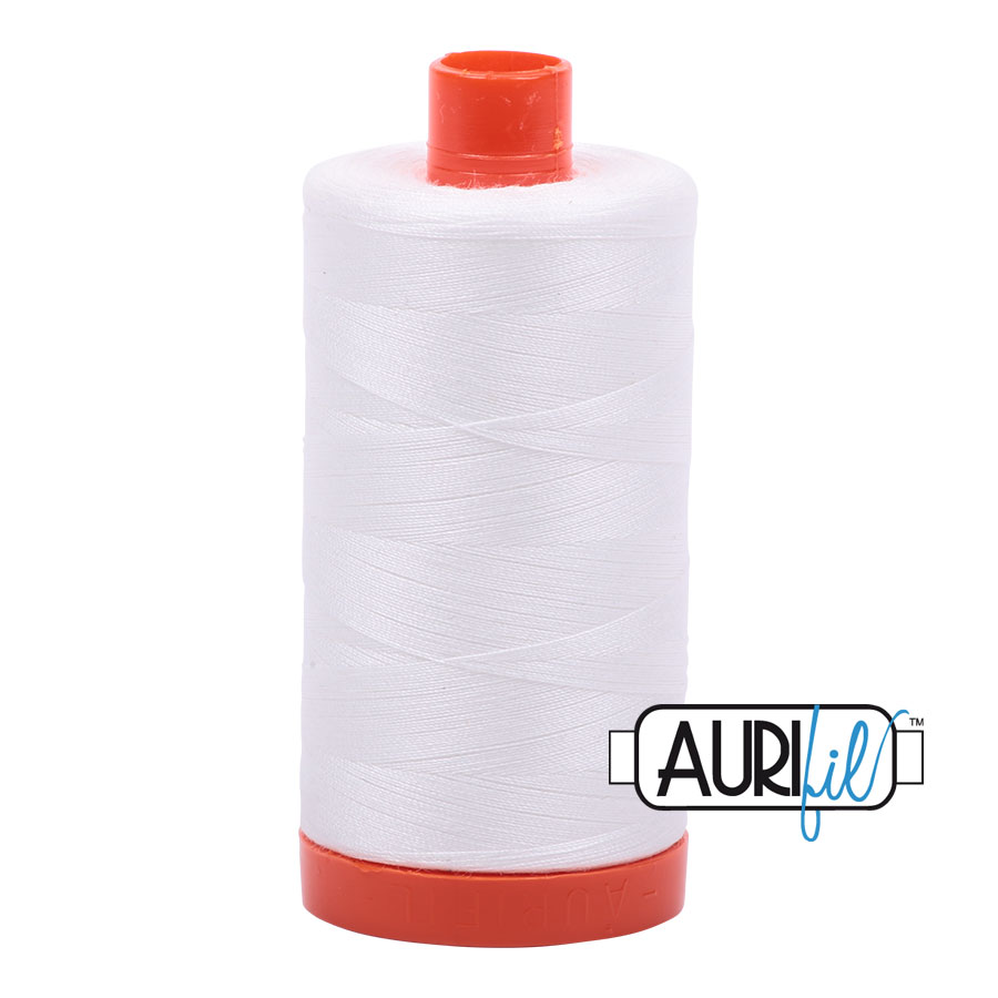 AURIfil Mako 50wt thread // cotton thread // #2021 natural white // Holm Sown