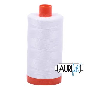 AURIfil Mako 50wt thread // cotton thread // #2024 white // Holm Sown
