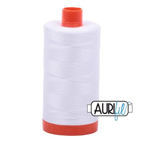 AURIfil Mako 50wt thread // cotton thread // #2024 white // Holm Sown