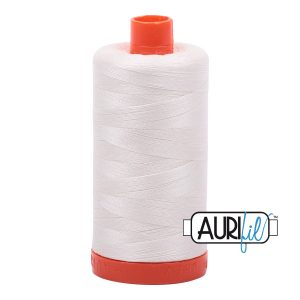 AURIfil Mako 50wt thread // cotton thread // #2026 chalk // Holm Sown