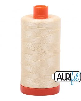 AURIfil Mako 50wt thread // cotton thread // #2110 light lemon yellow // Holm Sown