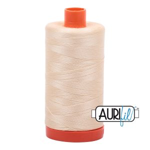 AURIfil Mako 50wt thread // cotton thread // #2123 butter yellow // Holm Sown