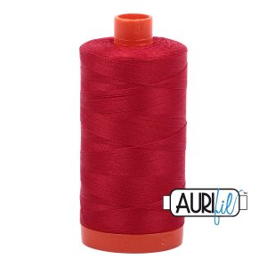 AURIfil Mako 50wt thread // cotton thread // #2250 red // Holm Sown