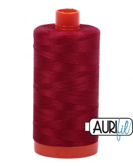 AURIfil Mako 50wt thread // cotton thread // #2260 wine // Holm Sown