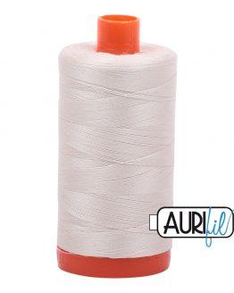 AURIfil Mako 50wt thread // cotton thread // #2309 silver white // Holm Sown