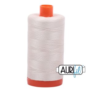 AURIfil Mako 50wt thread // cotton thread // #2309 silver white // Holm Sown