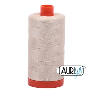 AURIfil Mako 50wt thread // cotton thread // #2310 light beige // Holm Sown