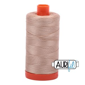 AURIfil Mako 50wt thread // cotton thread // #2314 beige // Holm Sown