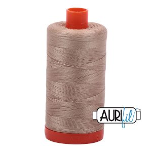 AURIfil Mako 50wt thread // cotton thread // #2326 sand // Holm Sown