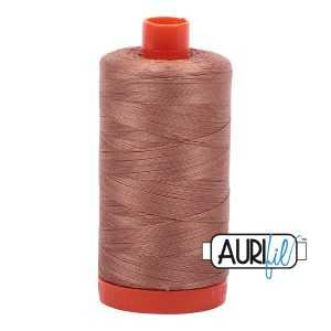 AURIfil Mako 50wt thread // cotton thread // #2340 cafe au lait // Holm Sown