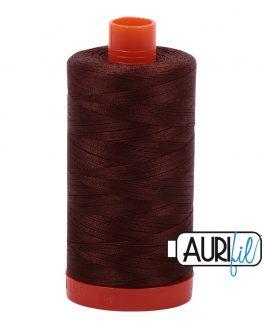 AURIfil Mako 50wt thread // cotton thread // #2360 chocolate // Holm Sown