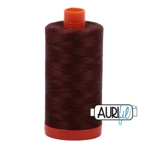 AURIfil Mako 50wt thread // cotton thread // #2360 chocolate // Holm Sown
