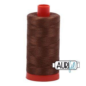 AURIfil Mako 50wt thread // cotton thread // #2372 dark antique gold // Holm Sown