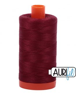 AURIfil Mako 50wt thread // cotton thread // #2460 dark carmine red // Holm Sown