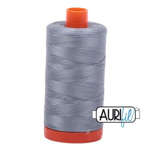 AURIfil Mako 50wt thread // cotton thread // #2610 light blue grey // Holm Sown