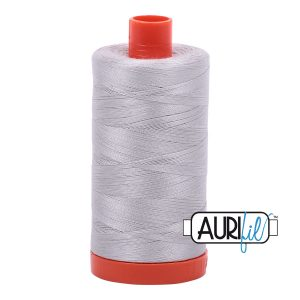 AURIfil Mako 50wt thread // cotton thread // #2615 aluminium// Holm Sown