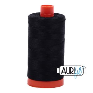 AURIfil Mako 50wt thread // cotton thread // #2692 black // Holm Sown