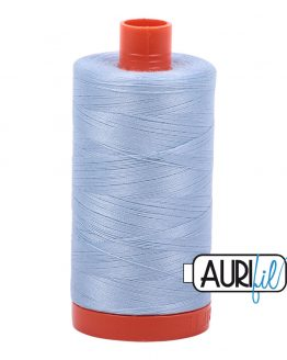 AURIfil Mako 50wt thread // cotton thread // #2710 light robin's egg // Holm Sown