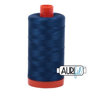 AURIfil Mako 50wt thread // cotton thread // #2783 light delft blue // Holm Sown